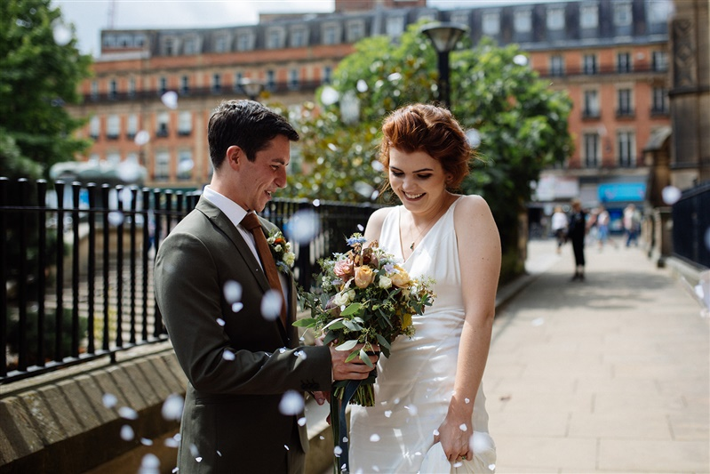 An intimate micro wedding at Sheffield Town Hall